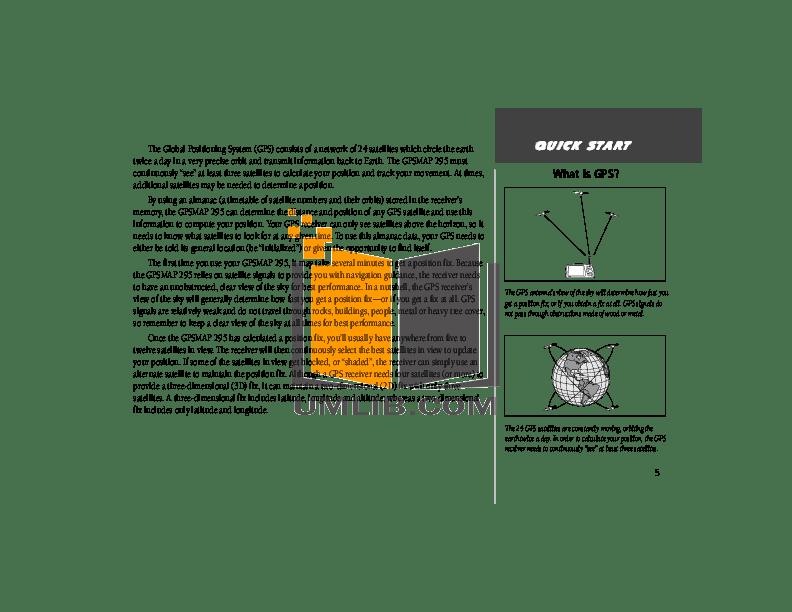 PDF manual for Garmin GPS GPSMAP 295