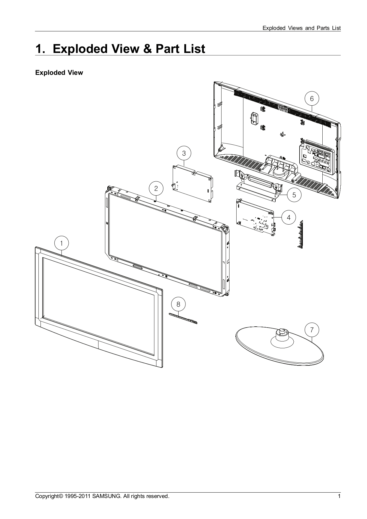 Download free pdf for Samsung LN32D550 TV manual