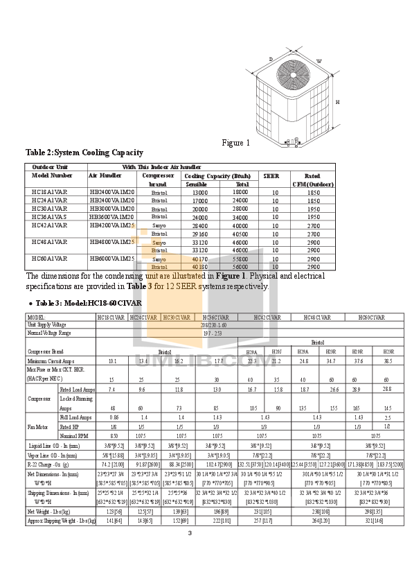 PDF manual for Haier Air Conditioner HB3000VA1M20