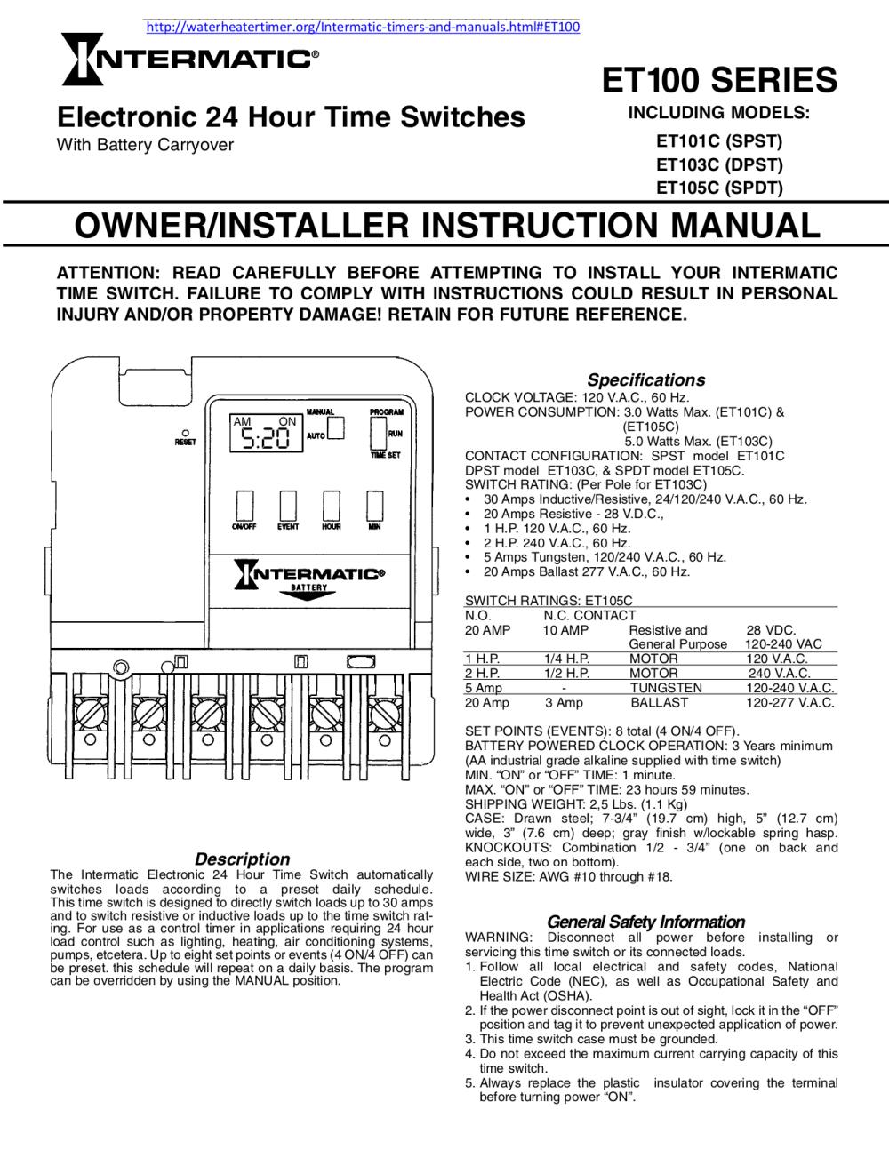 medium resolution of setting start end help call platt 800 257 4a midnight pst days intermatic intermatic time switch t101 manual t101 timer wiring diagram blazersdemoda
