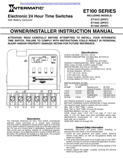 small resolution of setting start end help call platt 800 257 4a midnight pst days intermatic intermatic time switch t101 manual t101 timer wiring diagram blazersdemoda
