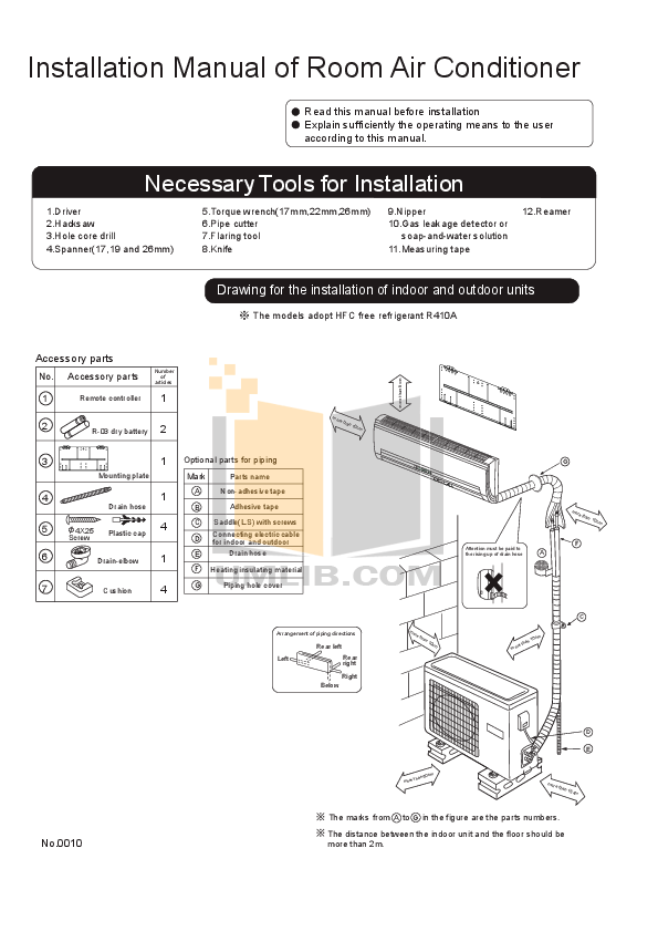 Download free pdf for Haier HSU-12HD03 Air Conditioner manual