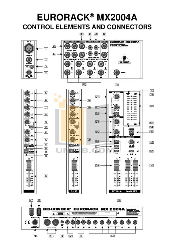 BEHRINGER MX2004A MANUAL PDF