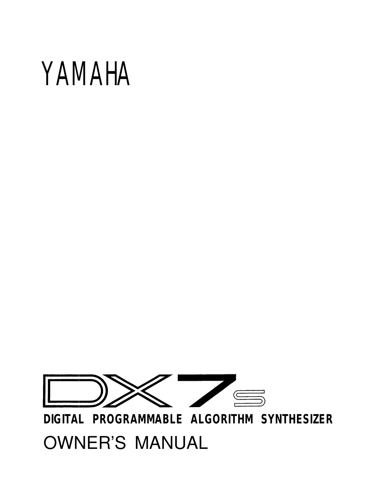 Download free pdf for Yamaha FS-300 Music Keyboard manual