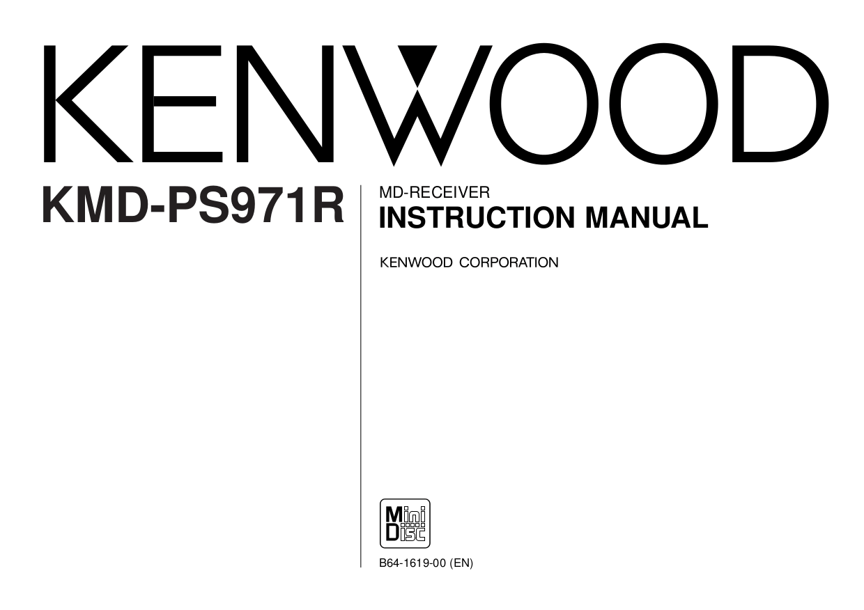 Download free pdf for Kenwood KAC-X501F Car Amplifier manual