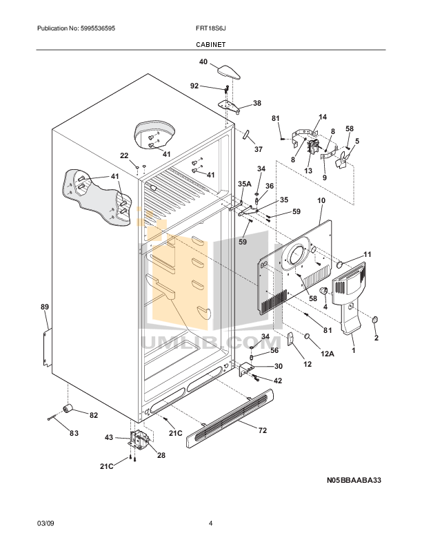 PDF manual for Frigidaire Refrigerator FRT18S6J