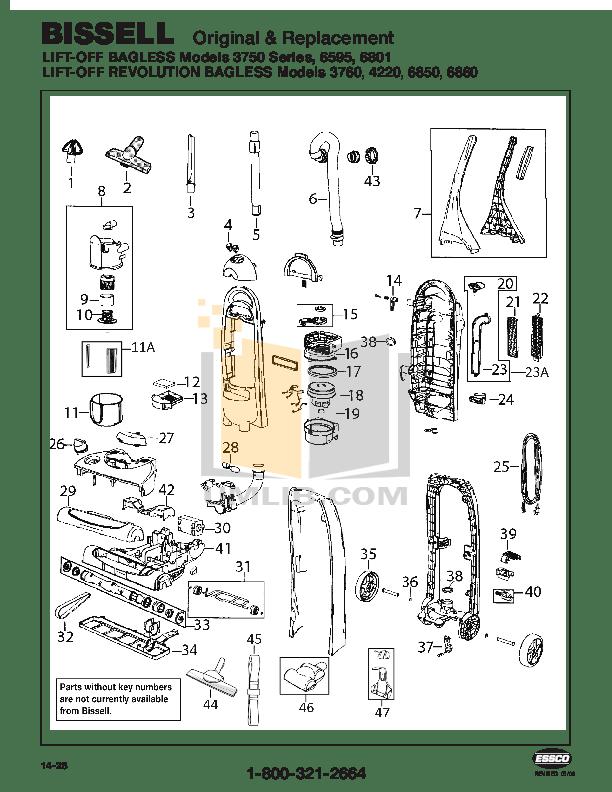 Download free pdf for Bissell 6860 Vacuum manual