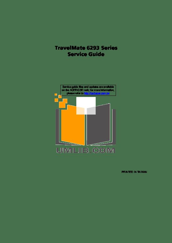 Download free pdf for Acer TravelMate 6293 Laptop manual