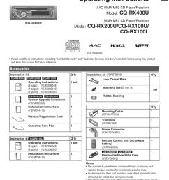 pdf for panasonic car receiver cq rx100u manual [ 756 x 1075 Pixel ]