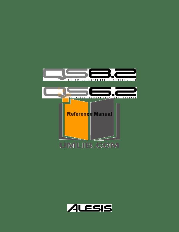Download free pdf for Alesis QS8.2 Music Keyboard manual