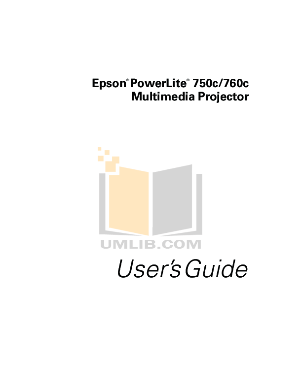 Download free pdf for Epson PowerLite 750c Projector manual
