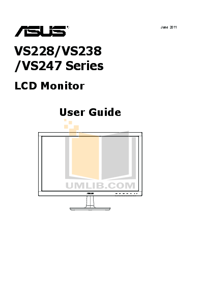 Download free pdf for Asus VS228H Monitor manual
