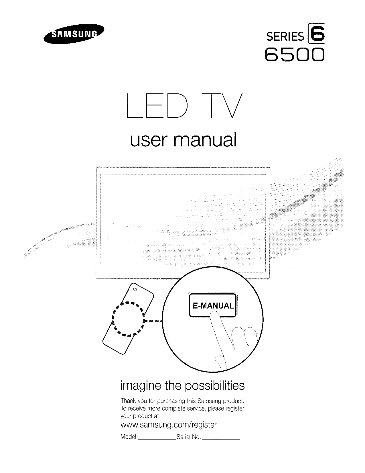 Download free pdf for Samsung UN46D6500 TV manual