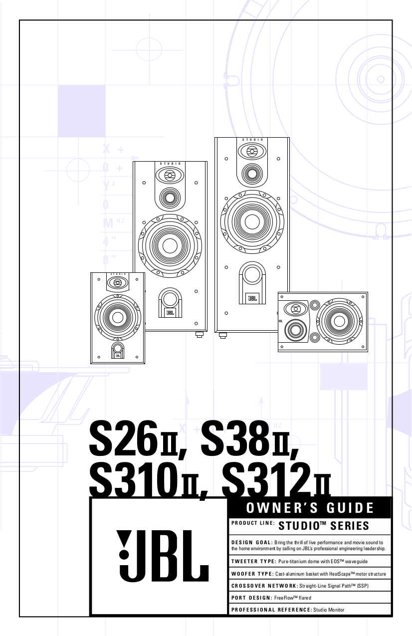 Download free pdf for JBL Studio S26 Speaker manual