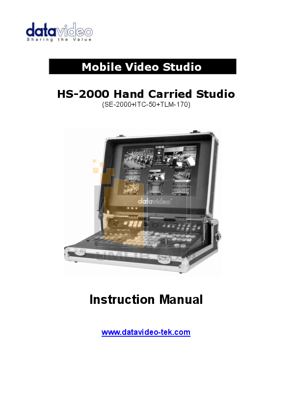 Download free pdf for Datavideo SE-200 Pro Mixer Other manual