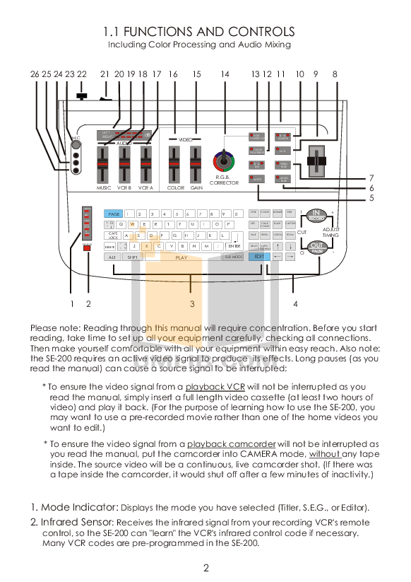 PDF manual for Datavideo Other SE-200 Pro Mixer