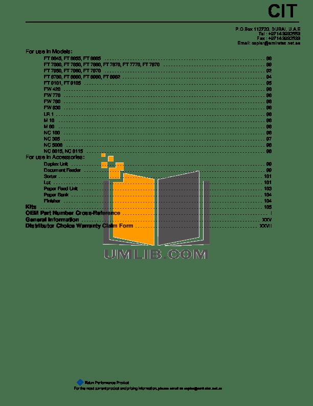 PDF manual for Gestetner Copier 3532