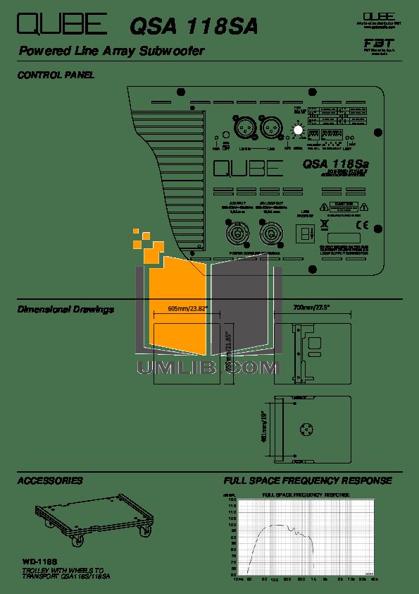 PDF manual for Fbt Subwoofer PSR 118s