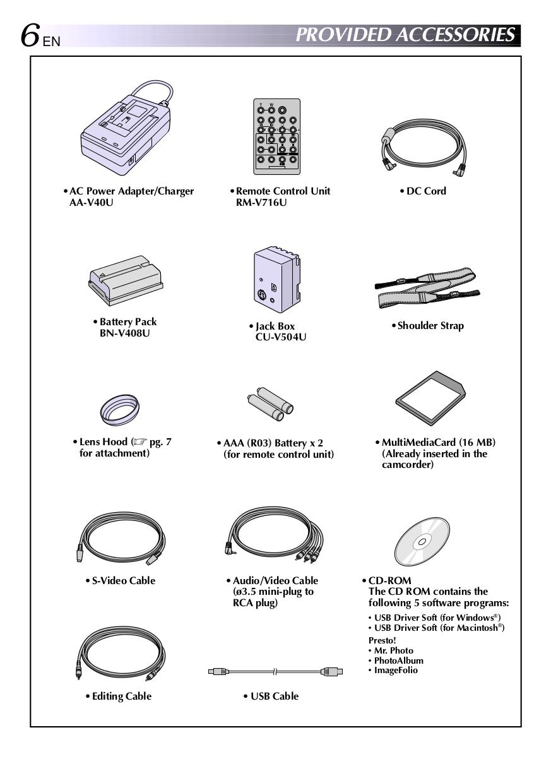 PDF manual for JVC Camcorders GR-DV2000U