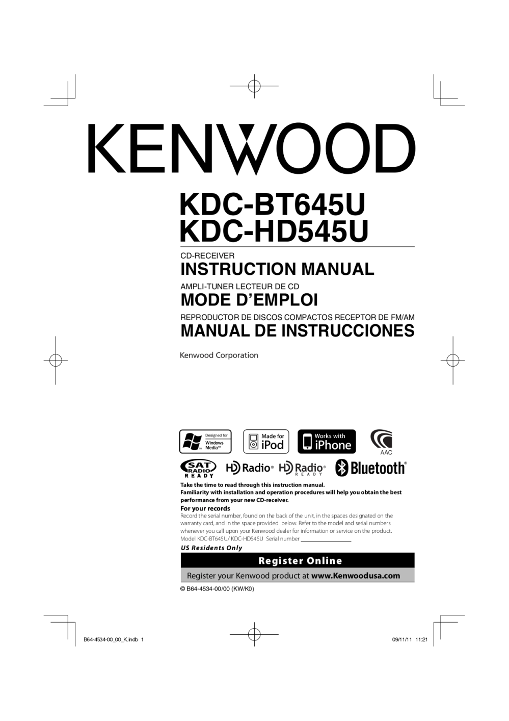 medium resolution of pdf for kenwood car receiver kdc 122 manual
