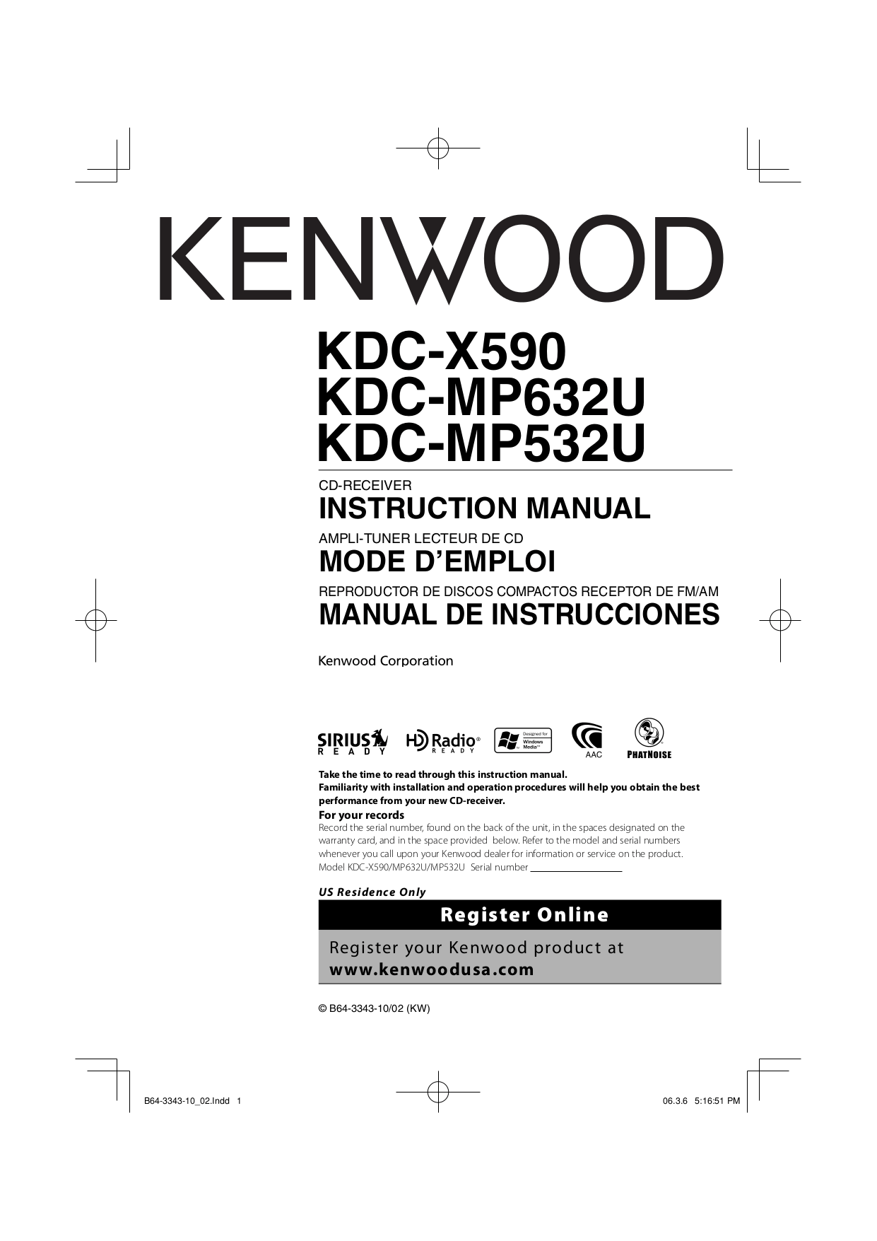 hight resolution of pdf for kenwood car receiver kdc 122 manual