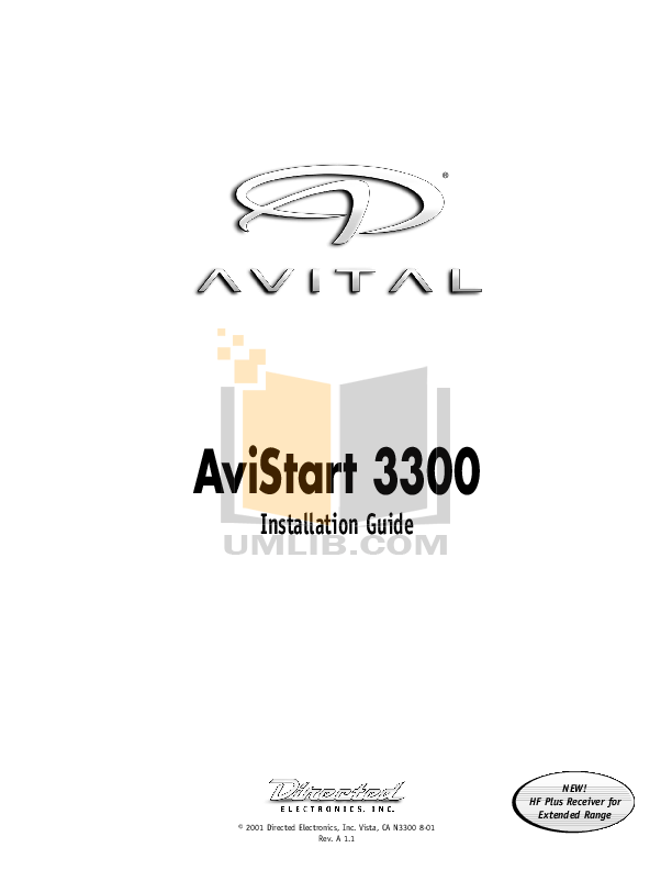 PDF manual for DEI Other Avital 3300 Car Alarms