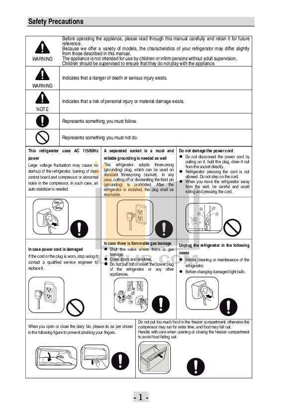 PDF manual for Haier Refrigerator PBFS21EDBS