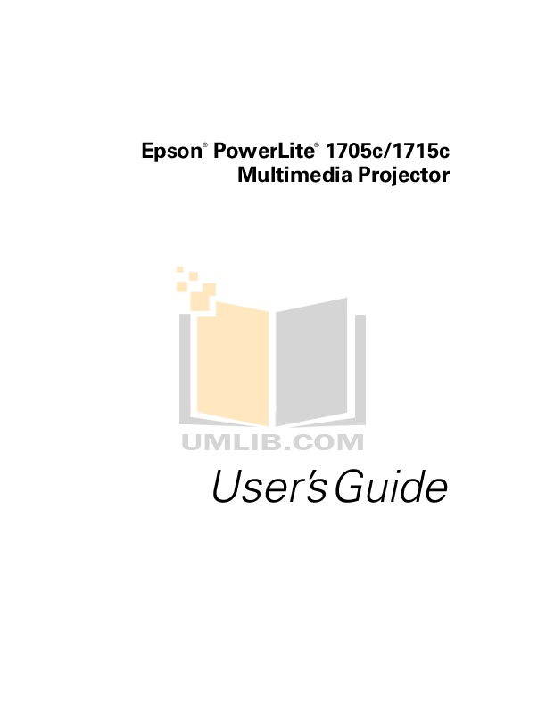 Download free pdf for Epson PowerLite 7500c Projector manual