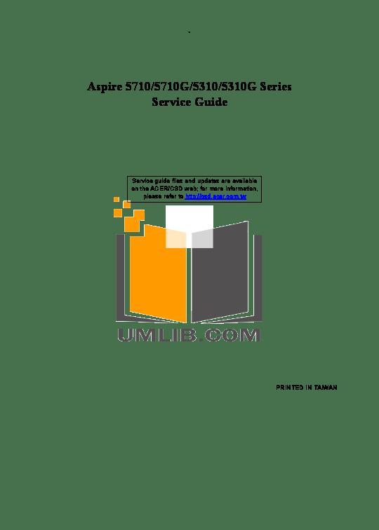 Download free pdf for Acer Aspire 5710 Laptop manual