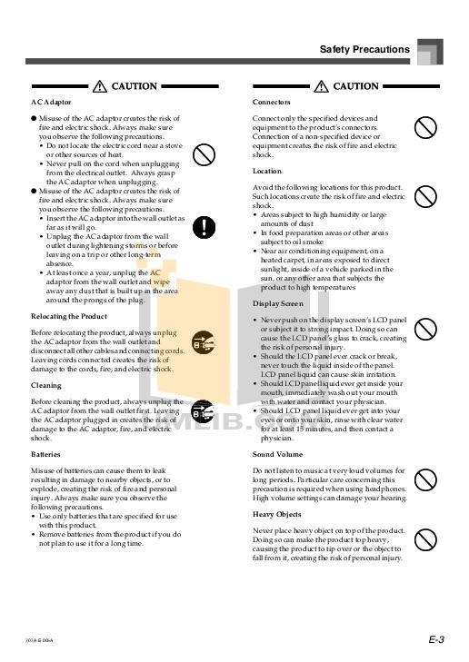 PDF manual for Casio Music Keyboard CTK-571