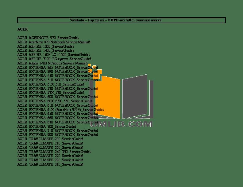 Download free pdf for Acer Extensa 670 Laptop manual