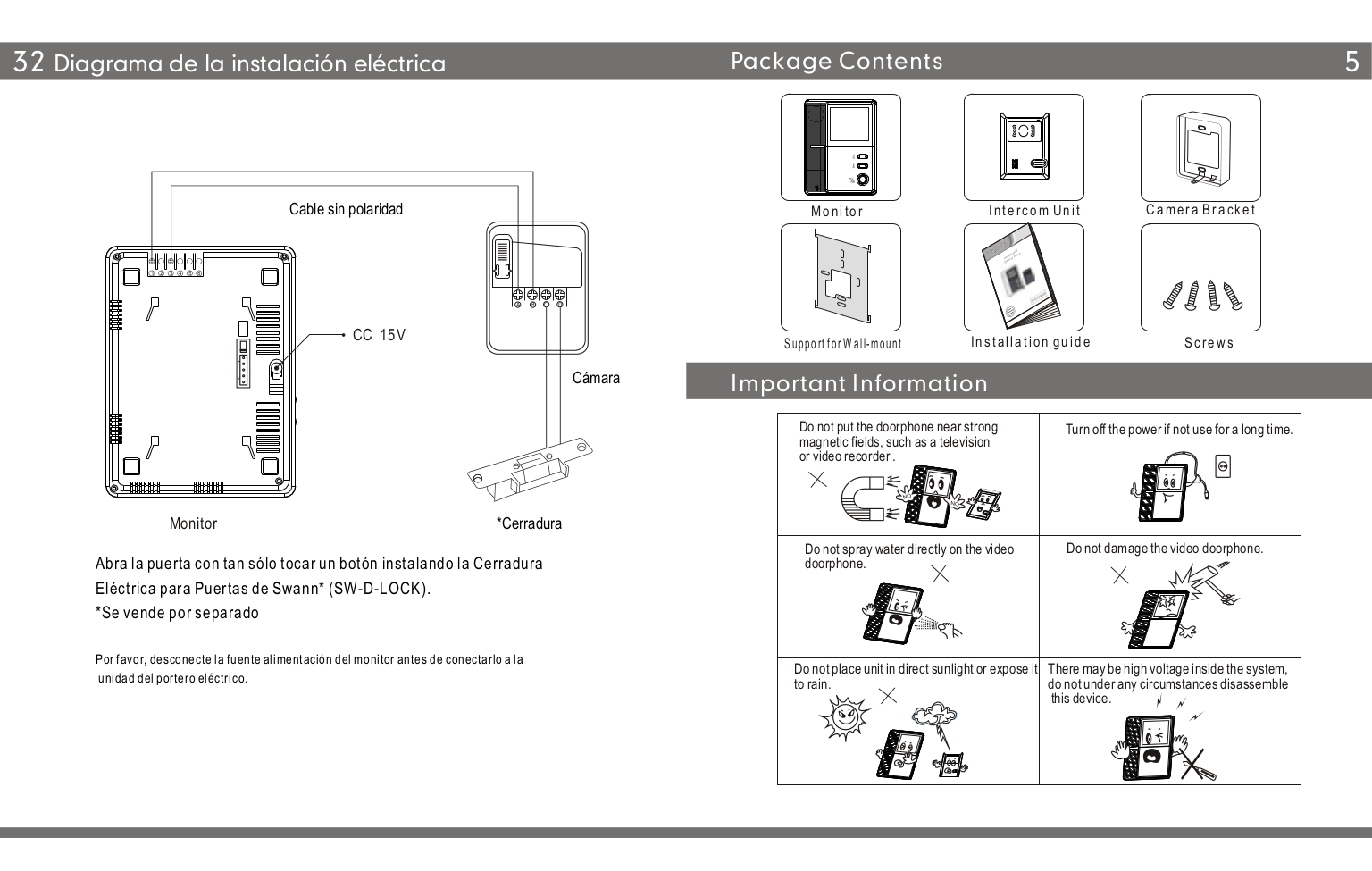 PDF manual for Swann Security Camera SW244-BVD