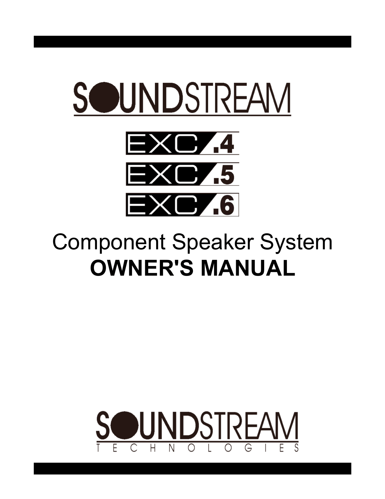 Download free pdf for Soundstream SPL-60 Speaker manual