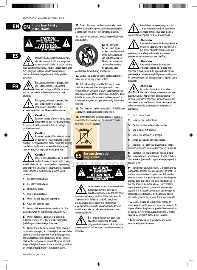 PDF manual for Behringer Other V-AMPIRE LX210 Guitar