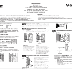 Leviton Slide Dimmer Wiring Diagram 2010 Jeep Wrangler Radio Download Free Pdf For Sureslide 6631 L Dimmers