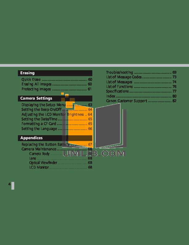 PDF manual for Canon Digital Camera Powershot S20