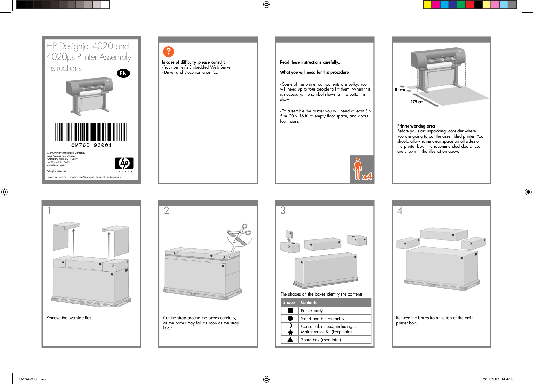 PDF manual for HP Printer Designjet 4020