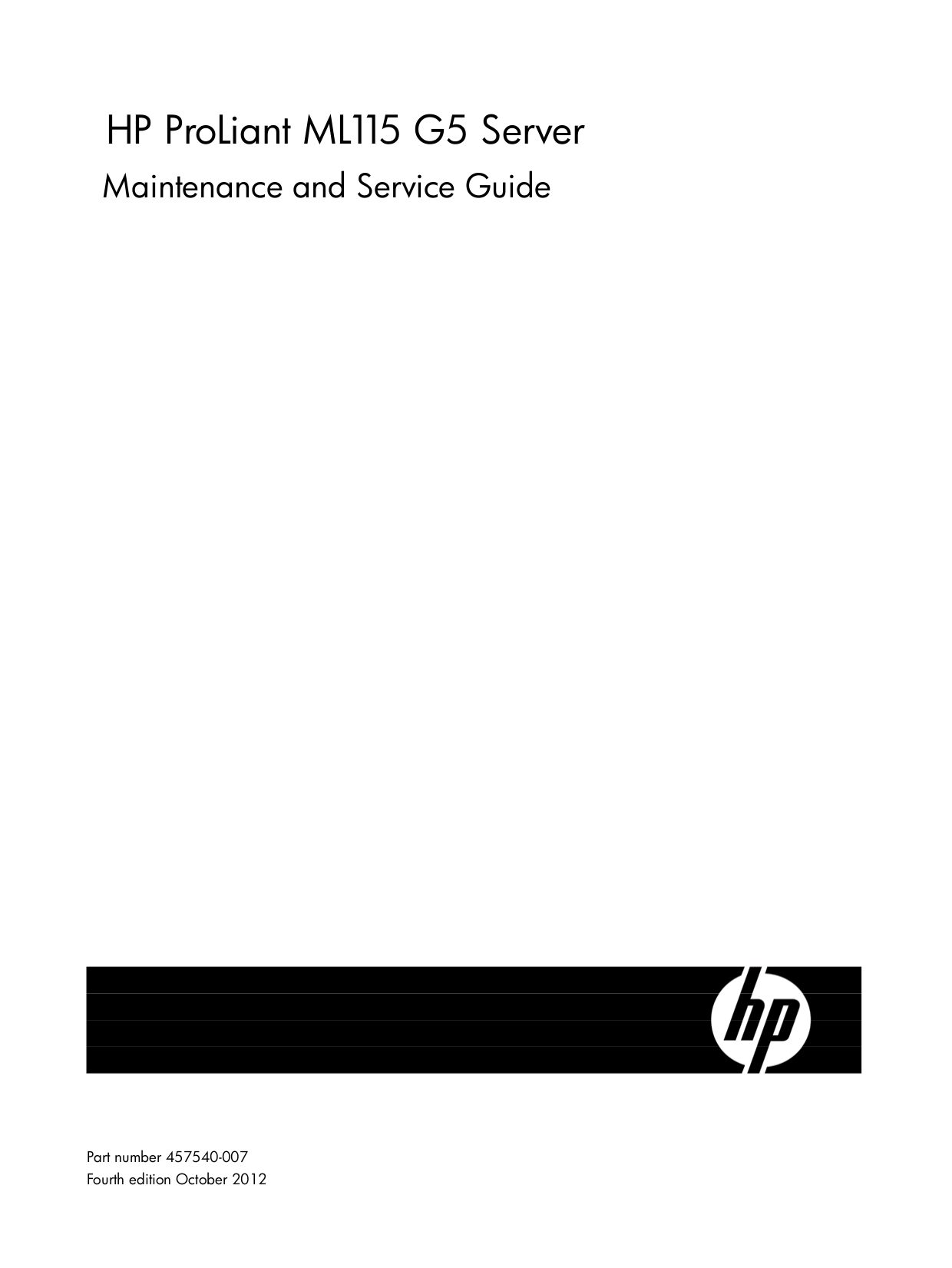 Download free pdf for HP ProLiant ML115 Servers Other manual