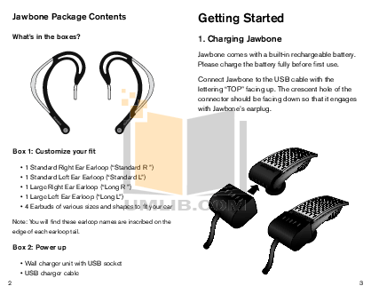 PDF manual for Aliph Headset Jawbone