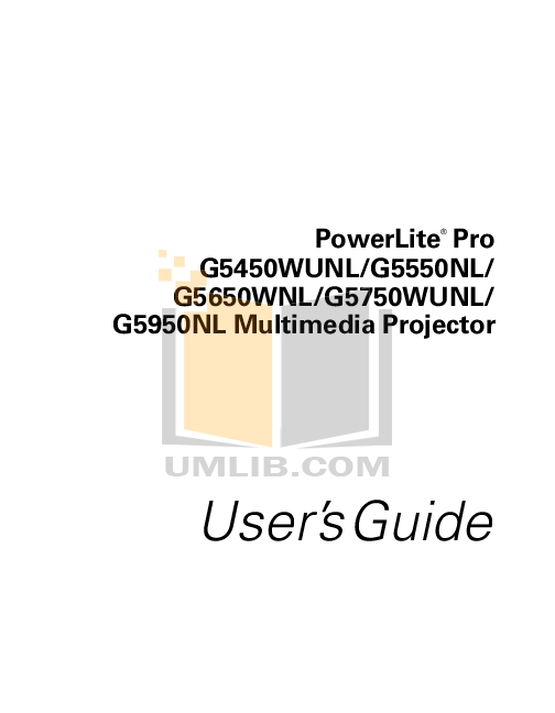 Download free pdf for Epson PowerLite 737c Projector manual