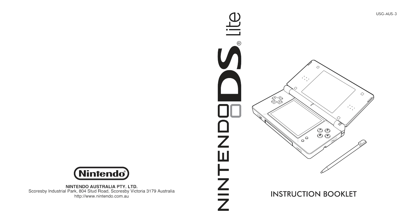 Download free pdf for Nintendo DS Lite Game Console manual