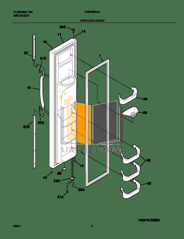 PDF manual for Frigidaire Refrigerator FRS26R4A