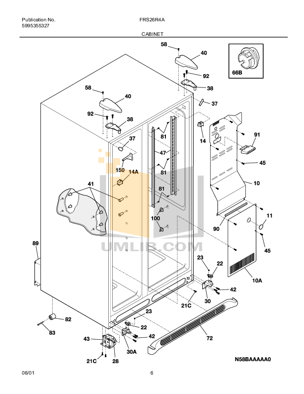 PDF manual for Frigidaire Refrigerator FRS26R4A