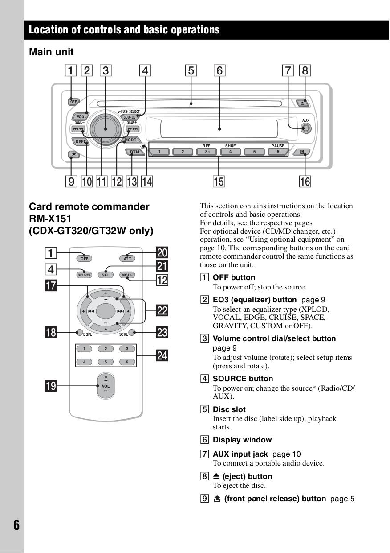 medium resolution of pdf manual for sony car receiver cdx gt120 rh umlib com sony xplod stereo wiring diagram sony cdx gt350mp wiring diagram