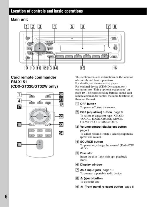 small resolution of pdf manual for sony car receiver cdx gt120 rh umlib com sony xplod stereo wiring diagram sony cdx gt350mp wiring diagram