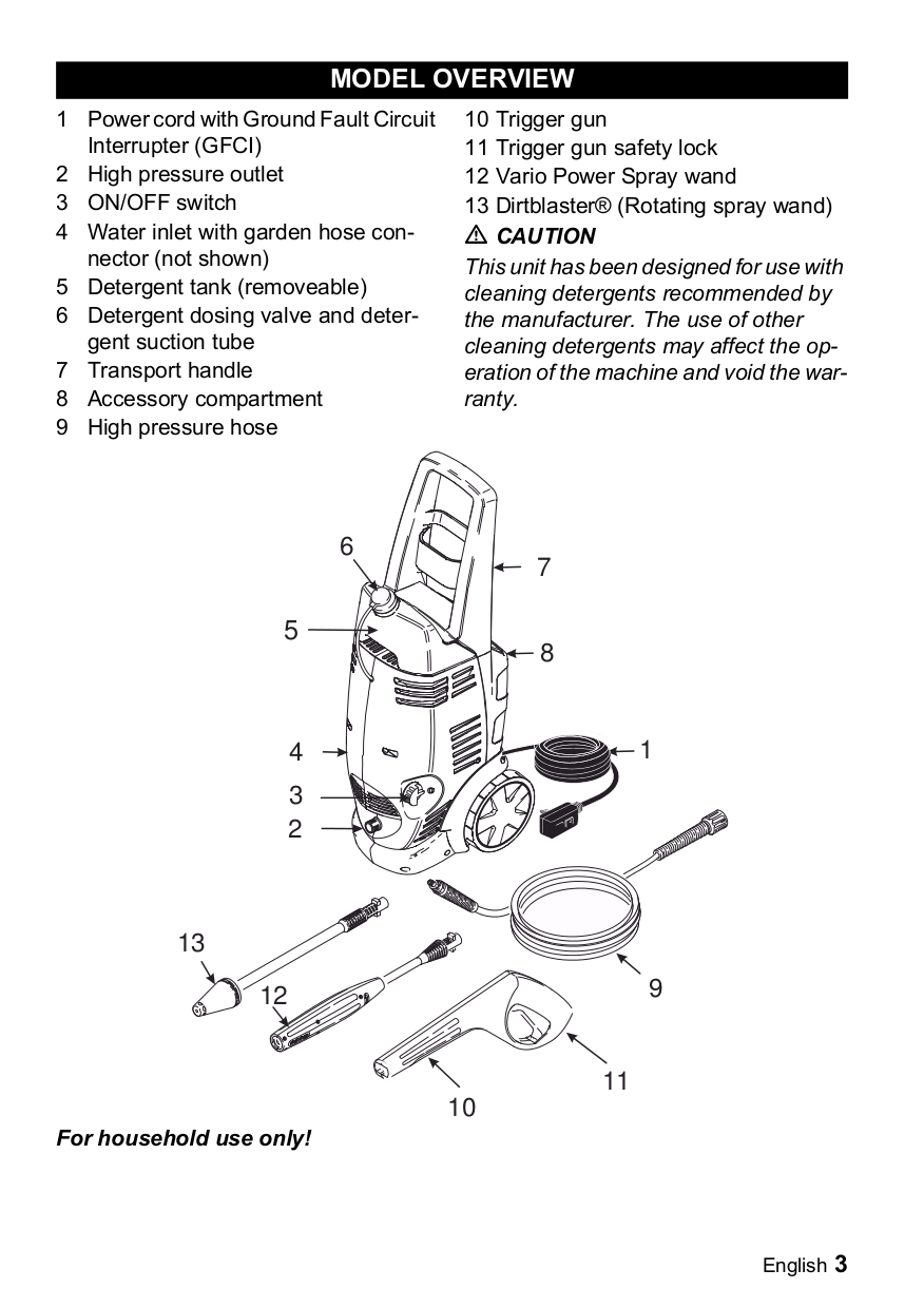 PDF manual for Karcher Other K 3.86 M Pressure Washers