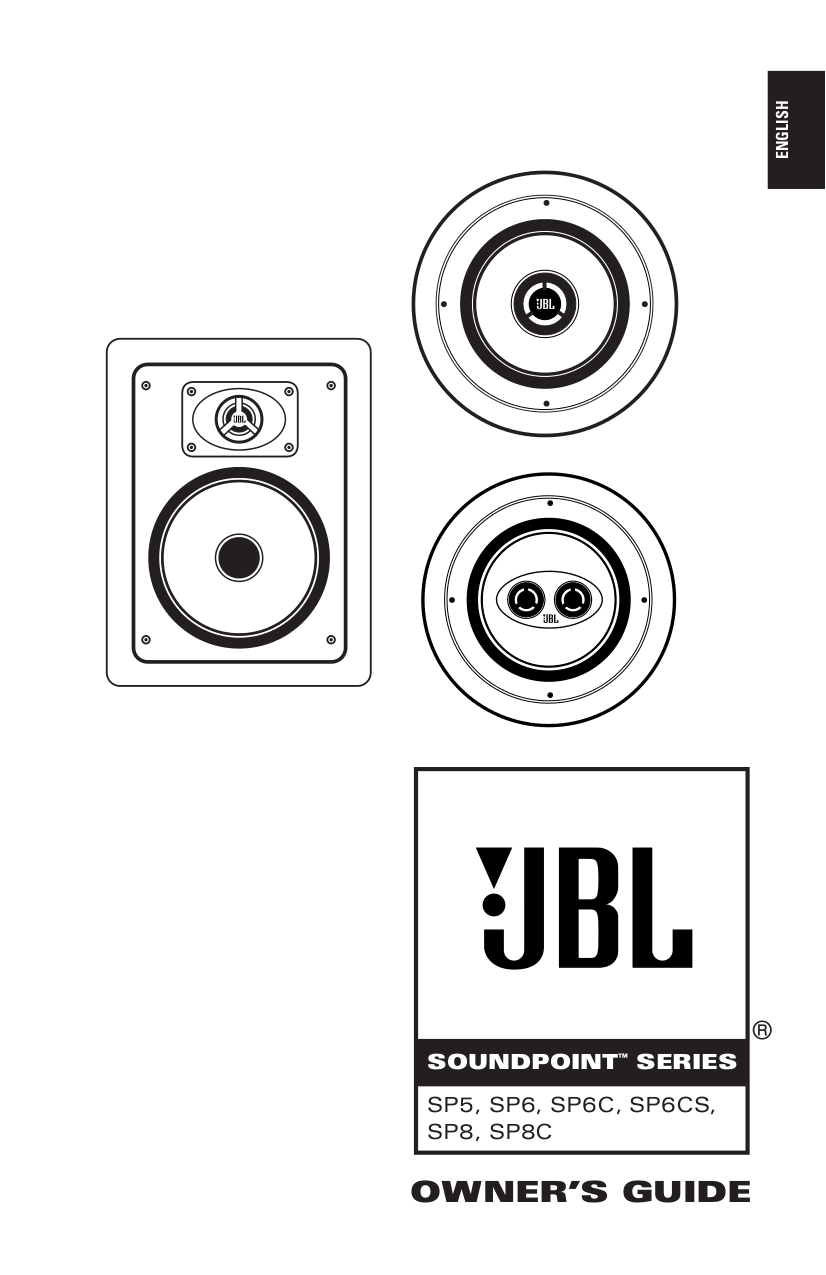 Download free pdf for JBL SP8C Speaker manual
