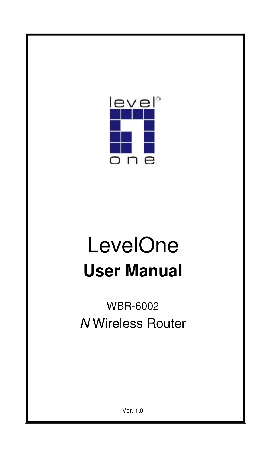 Download free pdf for LevelOne WBR-6002 Wireless Router manual