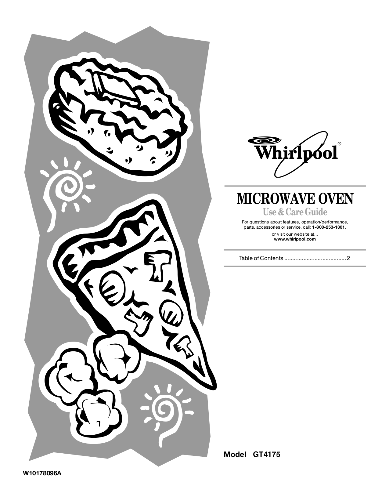Download free pdf for Whirlpool Gold GT4175SPS Microwave