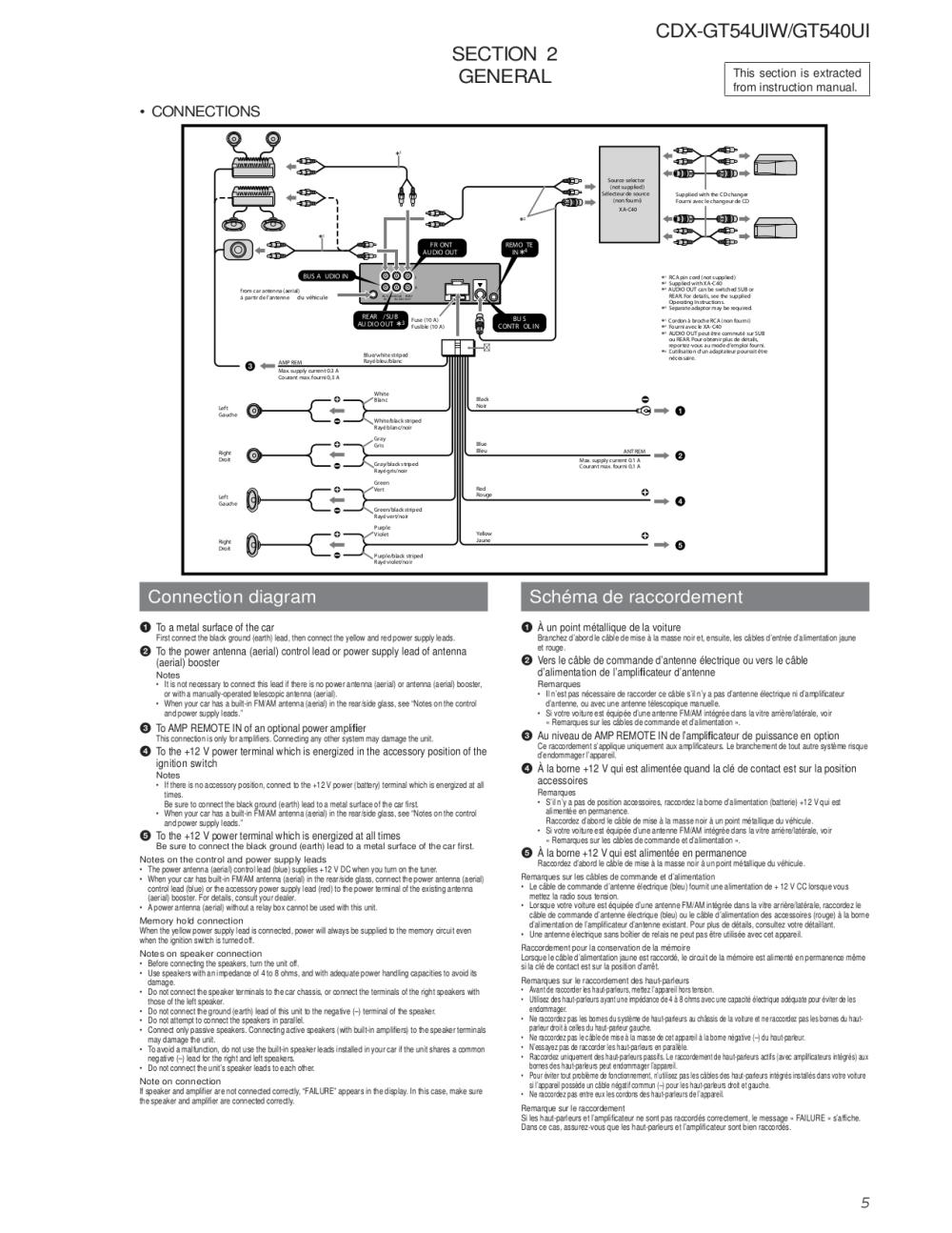 medium resolution of sony cdx gt540ui wiring diagram simple wiring diagram schema wiring diagram for cdx gt700hd pdf